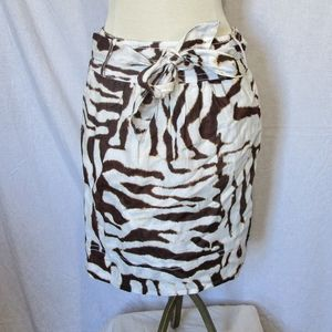 Banana republic animal pattern skirt